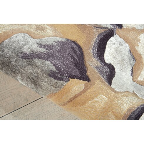 Latitude Run Annan Beige/Silver Area Rug | Wayfair