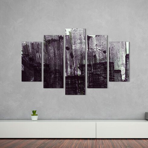 Abstract 886 Enigma 5-Piece Graphic Print