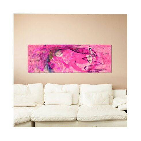 Enigma Panorama Abstrakt 394 Framed Graphic Print on Canvas