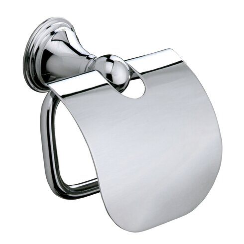 Genoa Wall Mounted Toilet Roll Holder with Flap