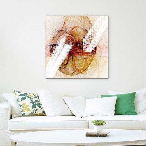 Abstract 1352 Enigma Framed Graphic Print on Canvas