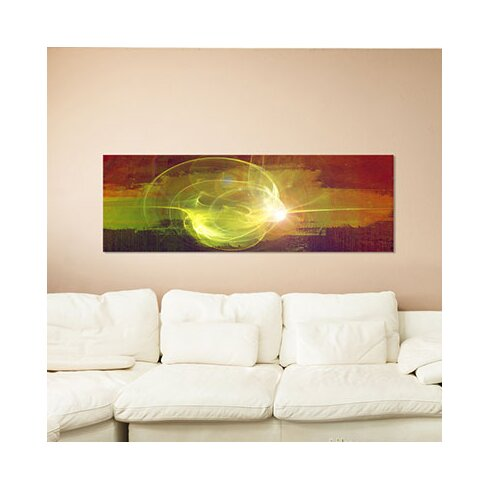 Enigma Panorama Abstrakt 027 Framed Graphic Print on Canvas