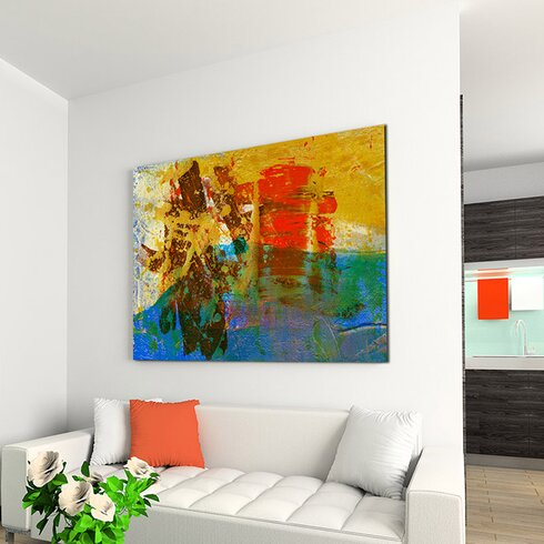 Abstract 541 Enigma Framed Graphic Print on Canvas