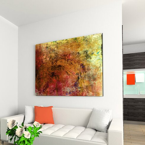 Abstract 971 Enigma Framed Graphic Print on Canvas