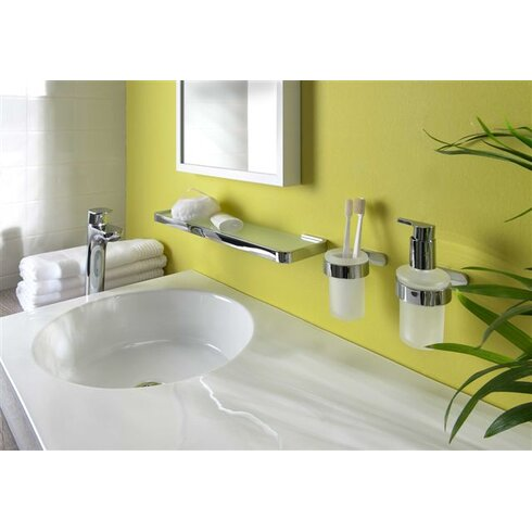 Natura Glass Wall Mounted Toilet Brush Holder