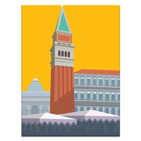 'Piazza San Marco' by Alan Annells Graphic Art Wrapped on Canvas