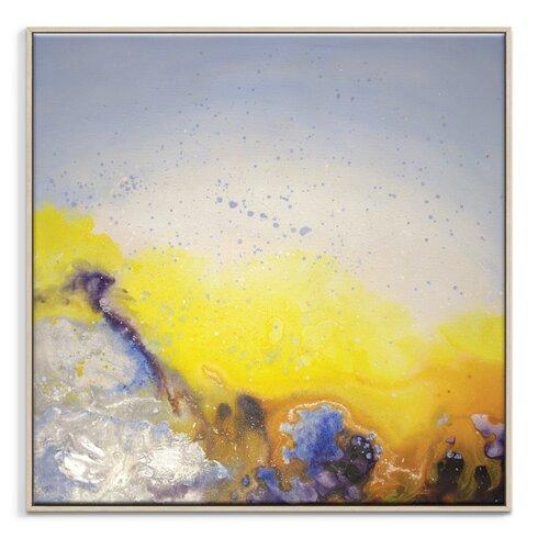 'Spring Rain' by Jennifer Webb Framed Art Print on Wrapped Canvas