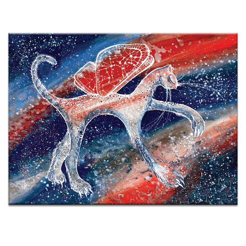 'Creating A New Galaxy' by Olena Kosenko Graphic Art on Wrapped Canvas