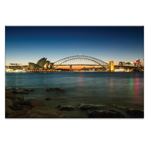 'Harbour Night' by Andrew Paranavitana Photographic Print on Wrapped Canvas