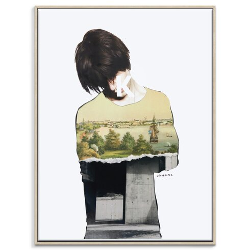 'Default Guilt' by Steve Leadbeater Framed Graphic Art on Wrapped Canvas