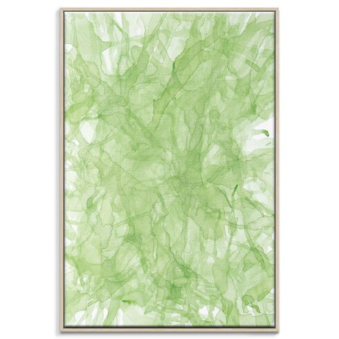 'Ink Flow 6' by Chalie MacRae Framed Graphic Art on Wrapped Canvas