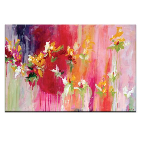 'April Blooms' by Amira Rahim Art Print on Wrapped Canvas