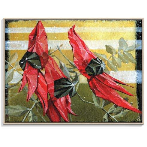 Swainsona Formosa' by Olena Kosenko Graphic Art Unwrapped on Canvas