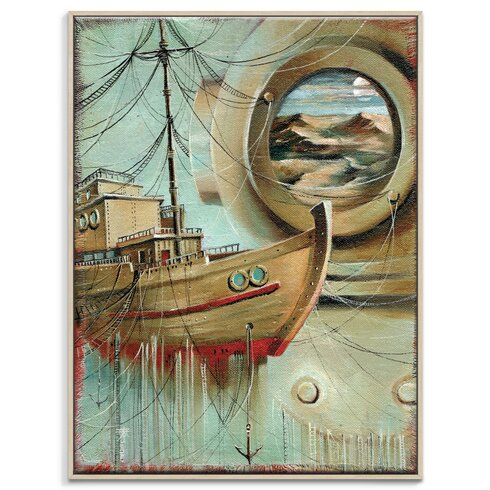 'Voyage De Rêves' by Olena Kosenko Framed Graphic Art on Wrapped Canvas