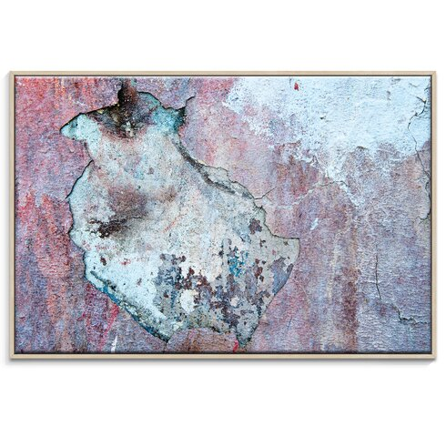 'Dry Dock Abstract 03' by Bente Andermahr Framed Graphic Art on Wrapped Canvas