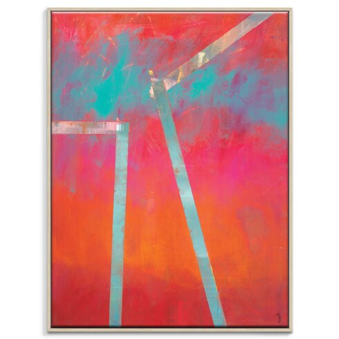 'Heliopause' by Mario Burgoa Framed Art Print on Wrapped Canvas