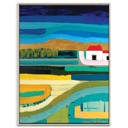'Red Hill' by Anna Blatman Framed Art Print on Wrapped Canvas