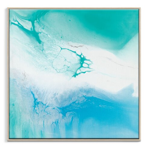 'Flow 43' by Chalie MacRae Framed Art Print on Wrapped Canvas