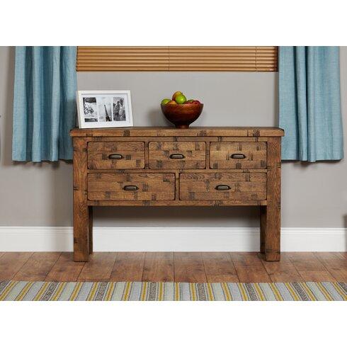 Heyford Rough Sawn Oak Console Table