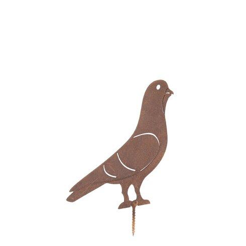 Rusty Pigeon Garden Art