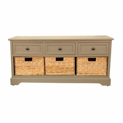 Beachcrest Home Ardina Wood Storage Entryway Bench