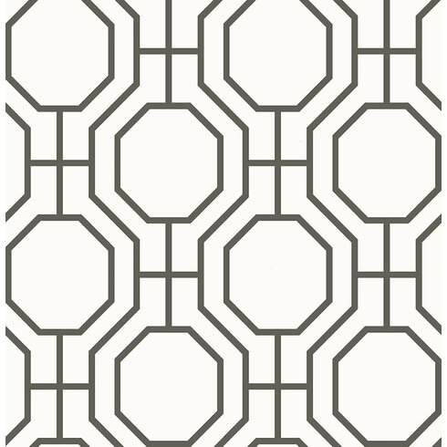"Linda Circuit 33' x 20.5"" Modern Ironwork Wallpaper Roll"