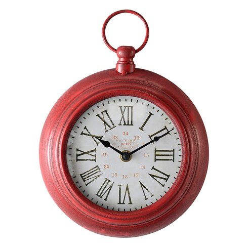 Shabby Elegance 20cm Fob Round Wall Clock