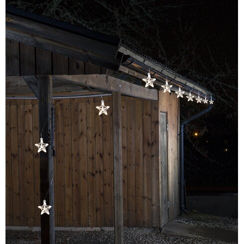 LED-Lichtervorhang Sterne