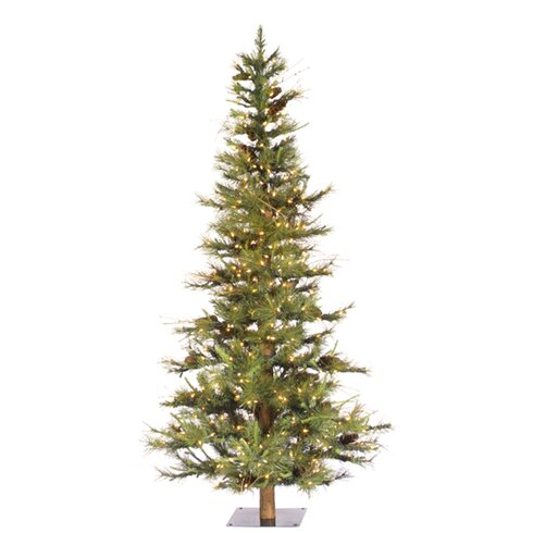 Ashland Fir 6' Green Artificial Christmas Tree with 450 Clear Lights with Stand