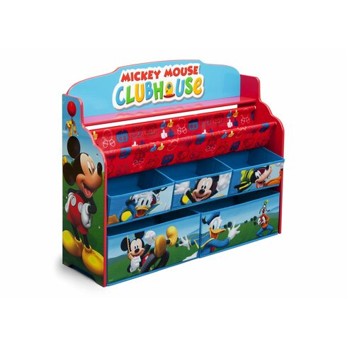 Mickey Mouse Deluxe Book And Toy Organizer