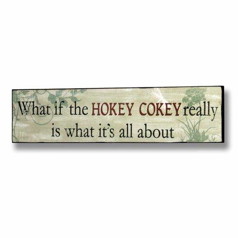 Hokey Cokey Typography Plaque in Green
