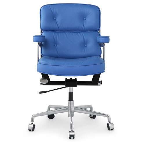 Meelano 16 Leather Office Chair With Lumbar Support Reviews Way