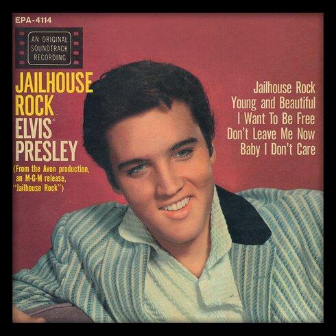 Elvis Presley 'Jailhouse Rock' Album Cover Framed Memorabilia