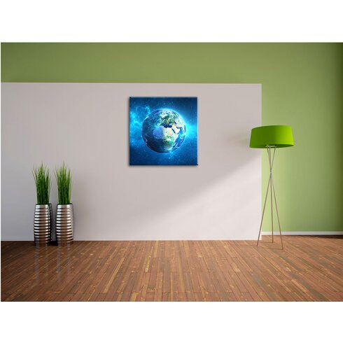 Earth in Universe Photographic Print on Canvas