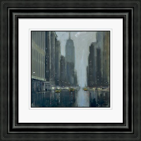 Early Commute, 5th Avenue by Jon Barker Framed Painting Print