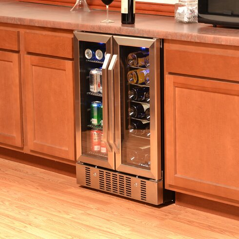 newair 18 bottle dual zone convertible wine cooler reviews wayfair. Black Bedroom Furniture Sets. Home Design Ideas