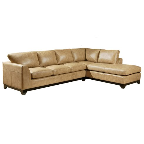 Omnia Leather City Sleek Sectional Wayfair  sc 1 st  Centerfieldbar.com : sleek sectional sofa - Sectionals, Sofas & Couches