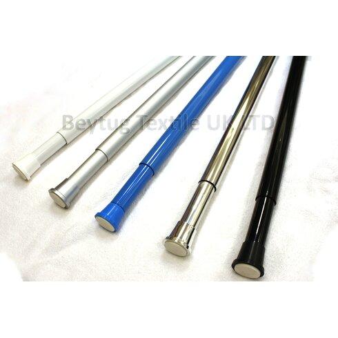 110cm Adjustable Straight Tension Shower Curtain Rail