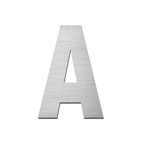 "Hausnummer selbstklebend ""A"" aus Edelstahl V4A"
