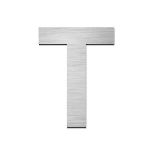 "Hausnummer selbstklebend ""T"" aus Edelstahl V4A"