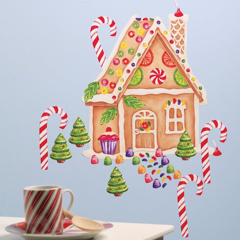 Gingerbread House Vinyl Holiday Wall Decal