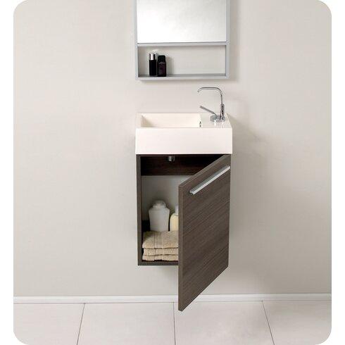 Fresca Senza 16 Single Bathroom Vanity Set With Mirror