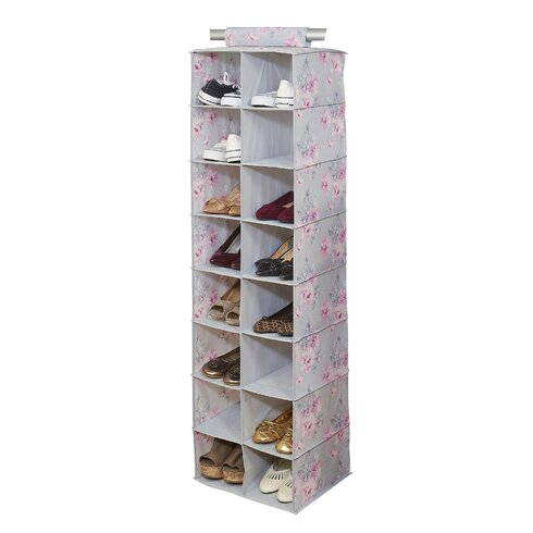 ... Organizers The Container; Laura Ashley Home Beatrice 16 Compartment Hanging  Shoe Organizer ...