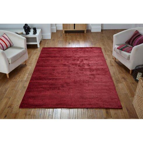 Handgewebter Teppich Ned in Rot