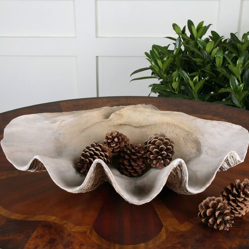 Beachcrest Home Clam Shell Decorative BowlReviewsWayfair