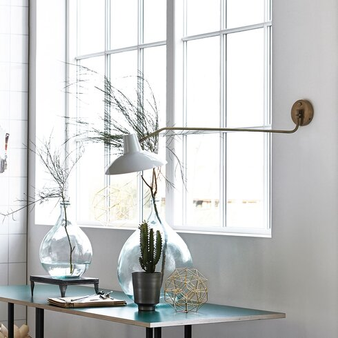 Desk 1 Light Swing Arm Wall Light