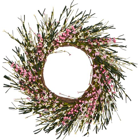 "Flower and Berry Twig 20"" Wreath"