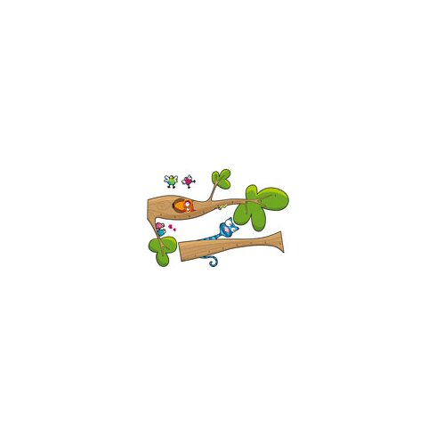Ludo Tree Height Gauge Wall Decal