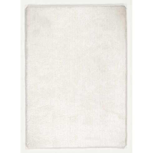 Hand-Tufted White Area Rug