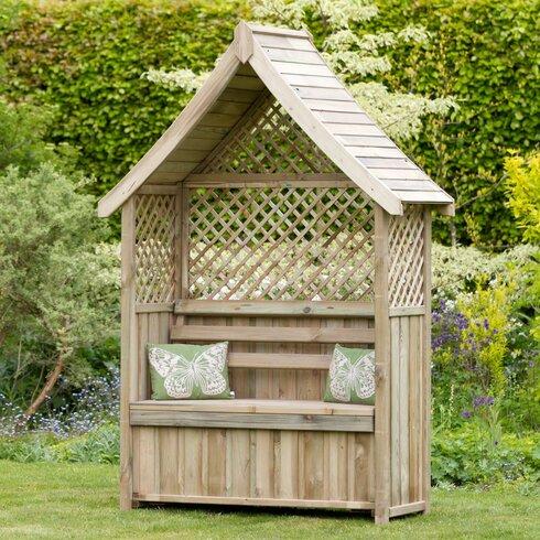 home haus rosenbogen norfolk mit banktruhe aus holz. Black Bedroom Furniture Sets. Home Design Ideas